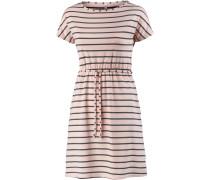 Kurzarmkleid Damen, rosa/grau gestreift