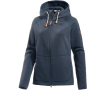 Övik Strickfleece Damen, blau