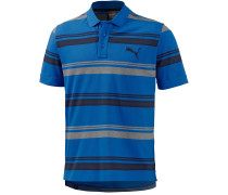 Sports Stripe Poloshirt Herren, blau