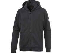 WAVE WASH ZIP UP Hoodie Herren, BLACK