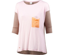Langarmshirt Damen, grau/rosa