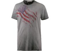 T-Shirt Herren, grau washed
