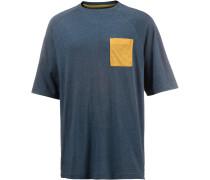 Oversize Shirt Herren, blau