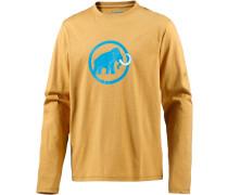Logo Printlangarmshirt Herren, gelb