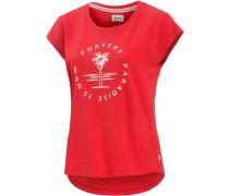 Clarkia T-Shirt Damen, rot