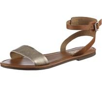 Sandalen Damen, braun/gold