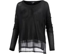 Langarmshirt Damen, schwarz