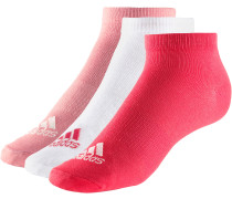 Sneakersocken Kinder, rot/weiß/rosa