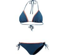 Tropical Triangelbikini Damen, blau