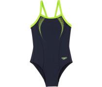 Schwimmanzug Mädchen, duneklblau/grün