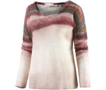 Strickpullover Damen, rosa/weiß