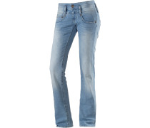 Pitch Straight Fit Jeans Damen, blau
