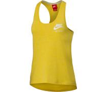 Gym Vintage Tanktop Damen, gelb