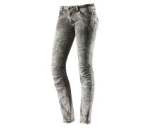 Skinny Fit Jeans Damen, grau