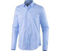 Langarmhemd Herren, blau