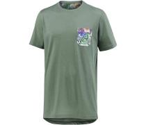Printshirt Herren, Oliv