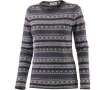 Övik Folk Knit Strickpullover Damen, uncle blue