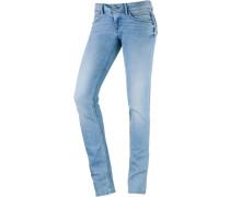 Ariel Skinny Fit Jeans Damen, lightblue denim