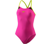 Splice Schwimmanzug Damen, electric pink/lime punch/black