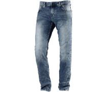 AEDAN Slim Fit Jeans Herren, bleached blue denim