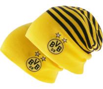Borussia Dortmund Beanie, Cyber Yellow- Black