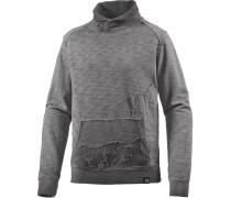 Sweatshirt Herren, grau washed