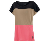 Come to Me T-Shirt Damen, beige/koralle/schwarz