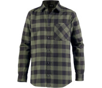 Red River Funktionshemd Herren, woodland green checks