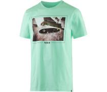 Happiness Printshirt Herren, grün