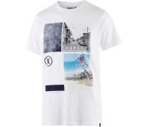 Fragment Printshirt Herren, weiß