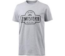 Ruztic Printshirt Herren, grau