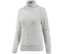 Rollkragenpullover Damen, light grey mel