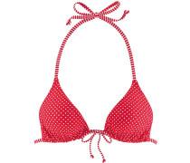 Bikini Oberteil Damen, rot gepunktet