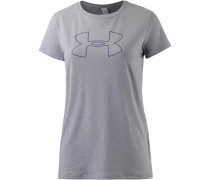 T-Shirt Damen, true gray heather