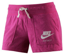 Gym Vintage Shorts Damen, fuchsia-melange