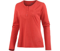 Essential Langarmshirt Damen, rot