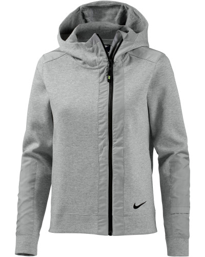 nike damen nike sweatjacke damen grau reduziert. Black Bedroom Furniture Sets. Home Design Ideas