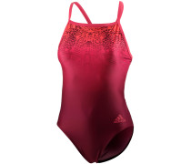 Schwimmanzug Damen, rot/weinrot