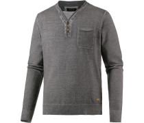 V-Pullover Herren, grau washed