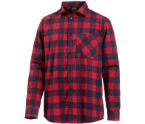Red River Funktionshemd Herren, indian red checks