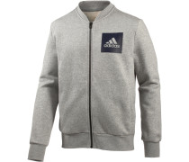Essential Bomber Sweatjacke Herren, medium grey heather
