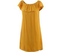Kurzarmkleid Damen, gelb
