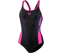 Hypnos Schwimmanzug Damen, black/fresia rose/plum