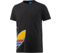 Printshirt Herren, schwarz