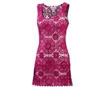 Croched Dress Kurzarmkleid Damen, rosa
