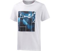 Mix it Blue Printshirt Herren, weiß
