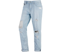 Claire Boyfriend Jeans Damen, blau