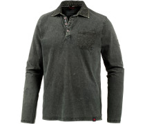 Pololangarmshirt Herren, pirate black