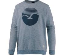 Vintage Print Sweatshirt Herren, blau