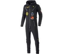 Aviator Jumpsuit, schwarz